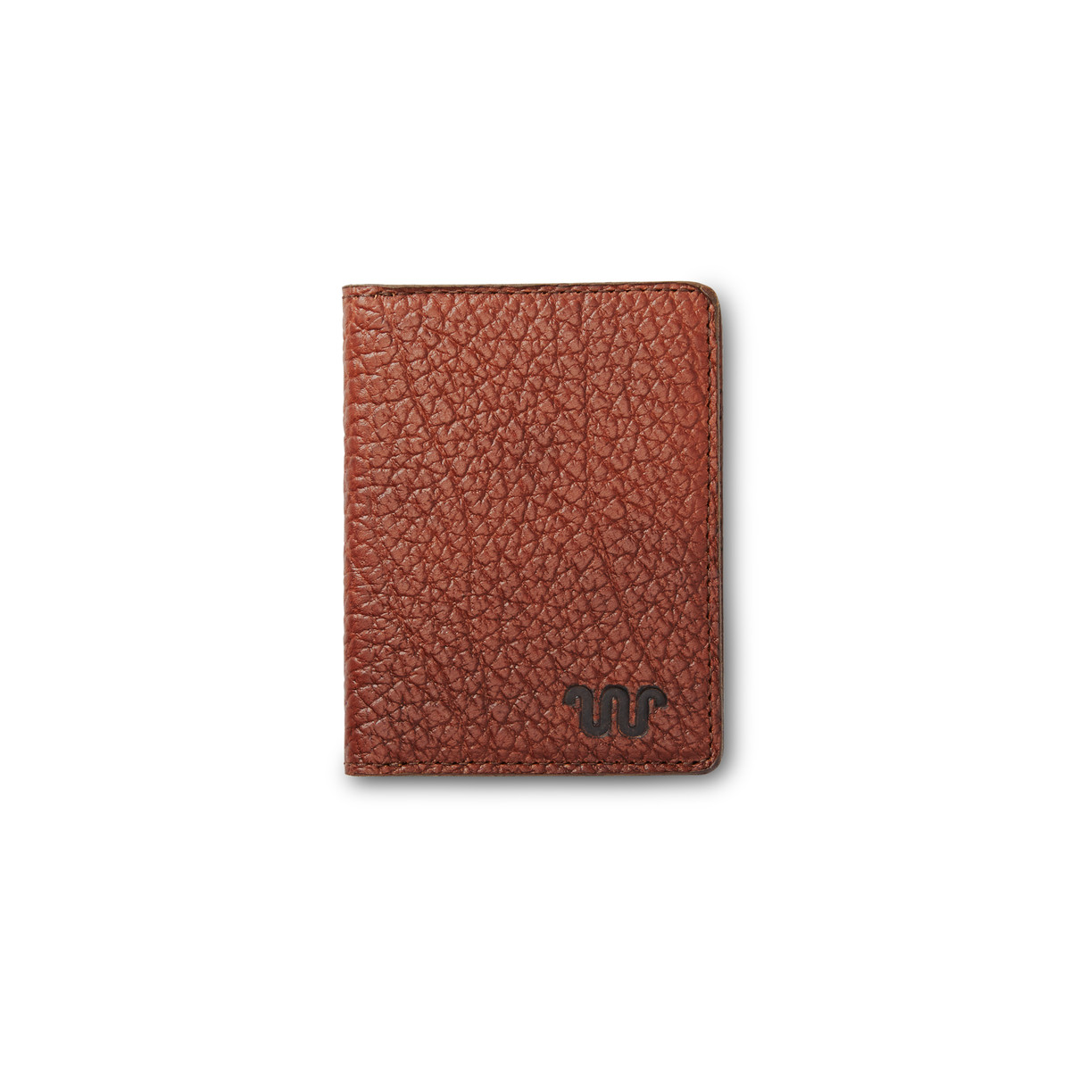 Saddle stich leather wallet